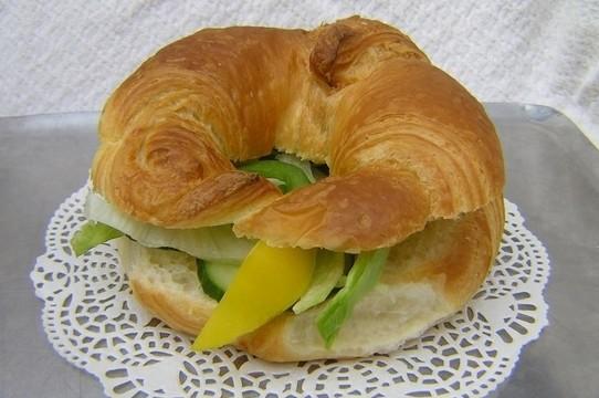 Croissant met ham/kaas/ei - Graaggedaan