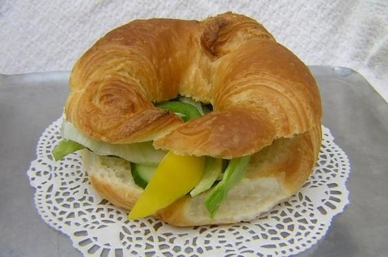 Croissant met kaas - Graaggedaan