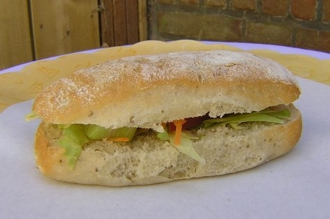 Ciabatta met salami - Graaggedaan