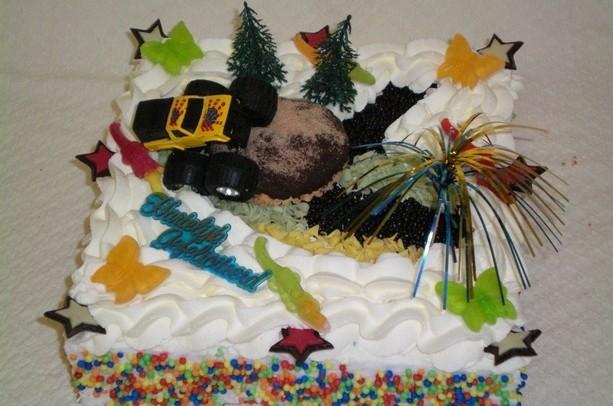 Monster truck taart - Graaggedaan