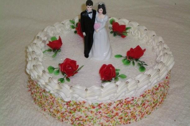 Bruilofts taart rond - Graaggedaan