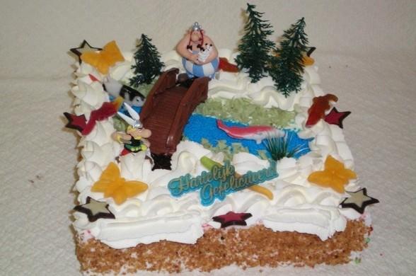 Astrix en Obelix taart - Graaggedaan