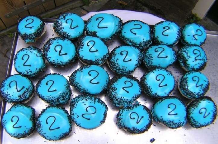 Geboorte muffin blauw - Graaggedaan