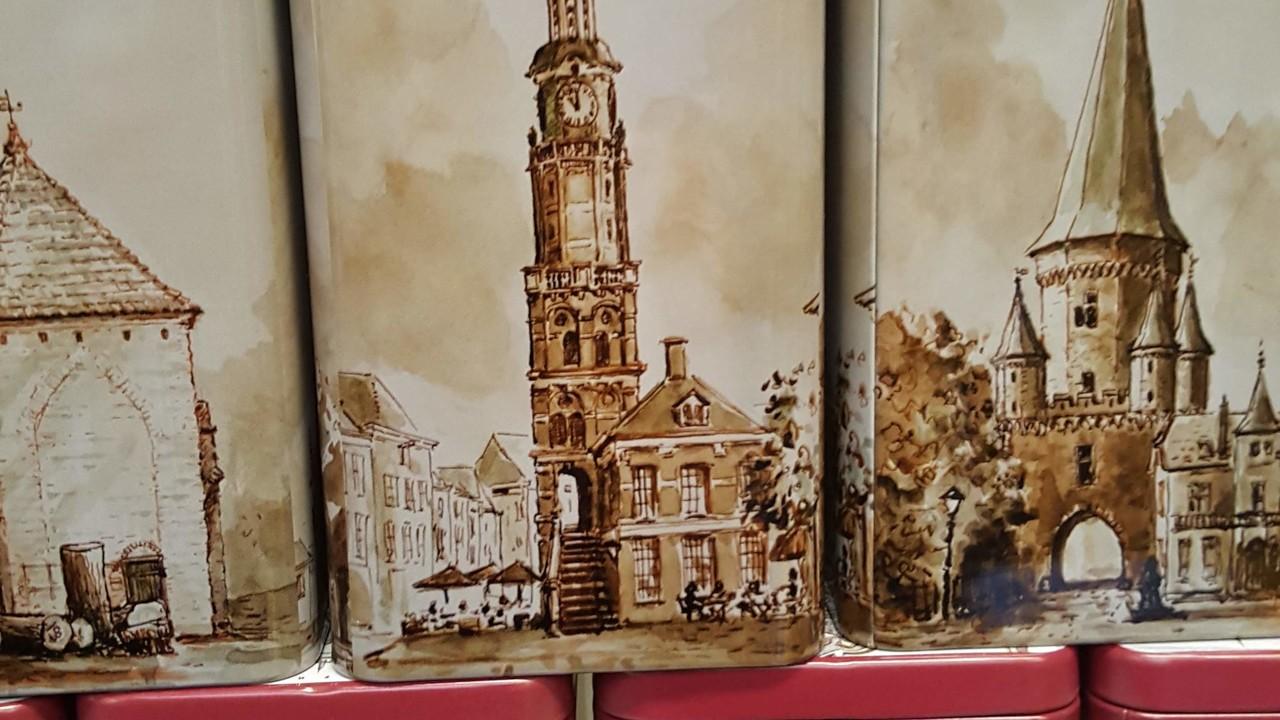 Zutphens Torenblikje, gevuld met koekjes - Graaggedaan